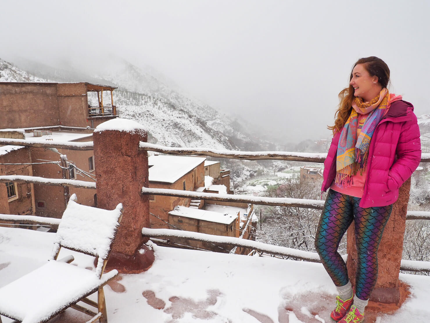 Snow in the Atlas Mountains, Morocco
