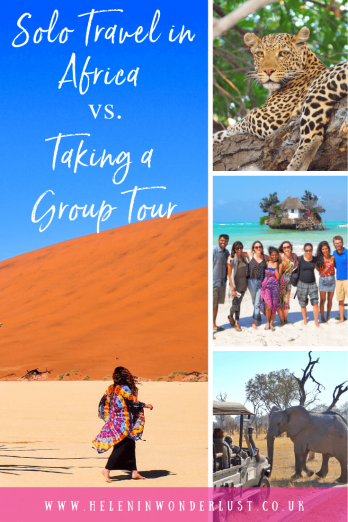 Is it better to travel Africa solo or take a group tour? We'll look at the pros and cons of both to help you decide what's right for you!