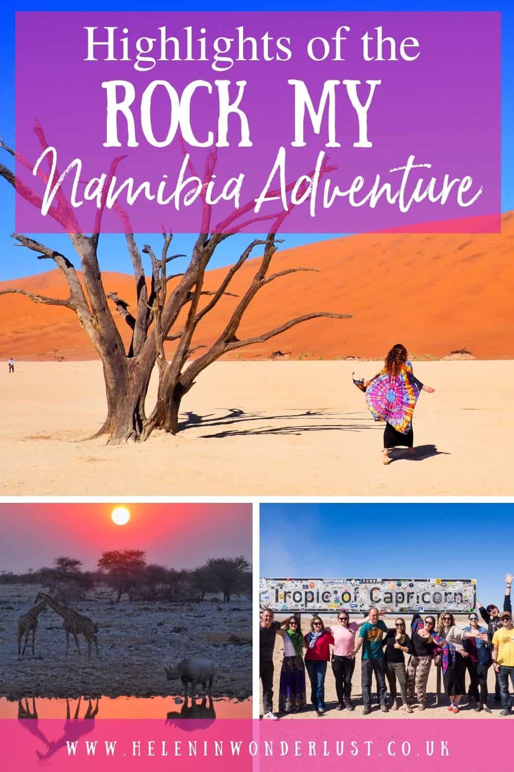 Highlights of the Rock My Namibia Adventure