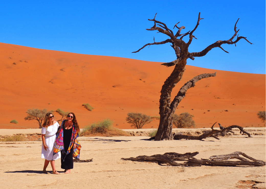 This Battered Suitcase & Helen in Wonderlust - Deadvlei, Namibia