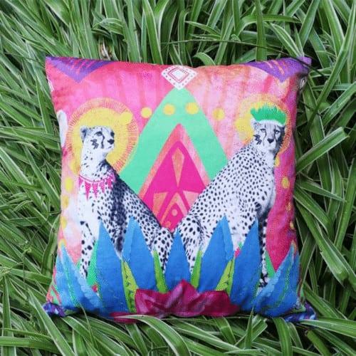 Festive Cheetah Cushion