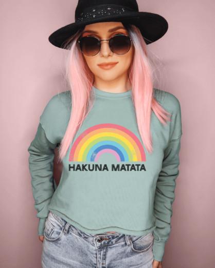Hakuna Matata Cropped Sweatshirt