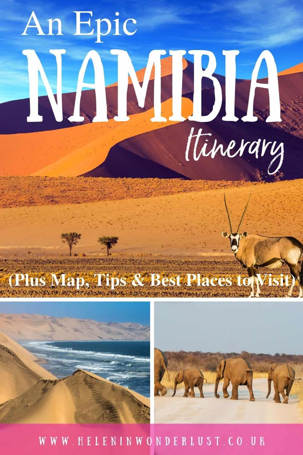 An Epic 2-Week Namibia Itinerary (Plus Map, Tips & Best Places to Visit)