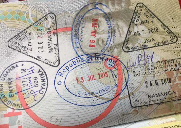 Africa Passport Stanps