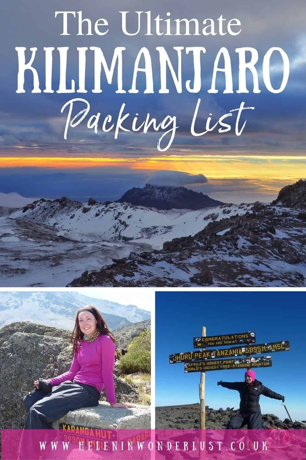 The Ultimate Kilimanjaro Packing List - Clothing, Shoes & Equipment