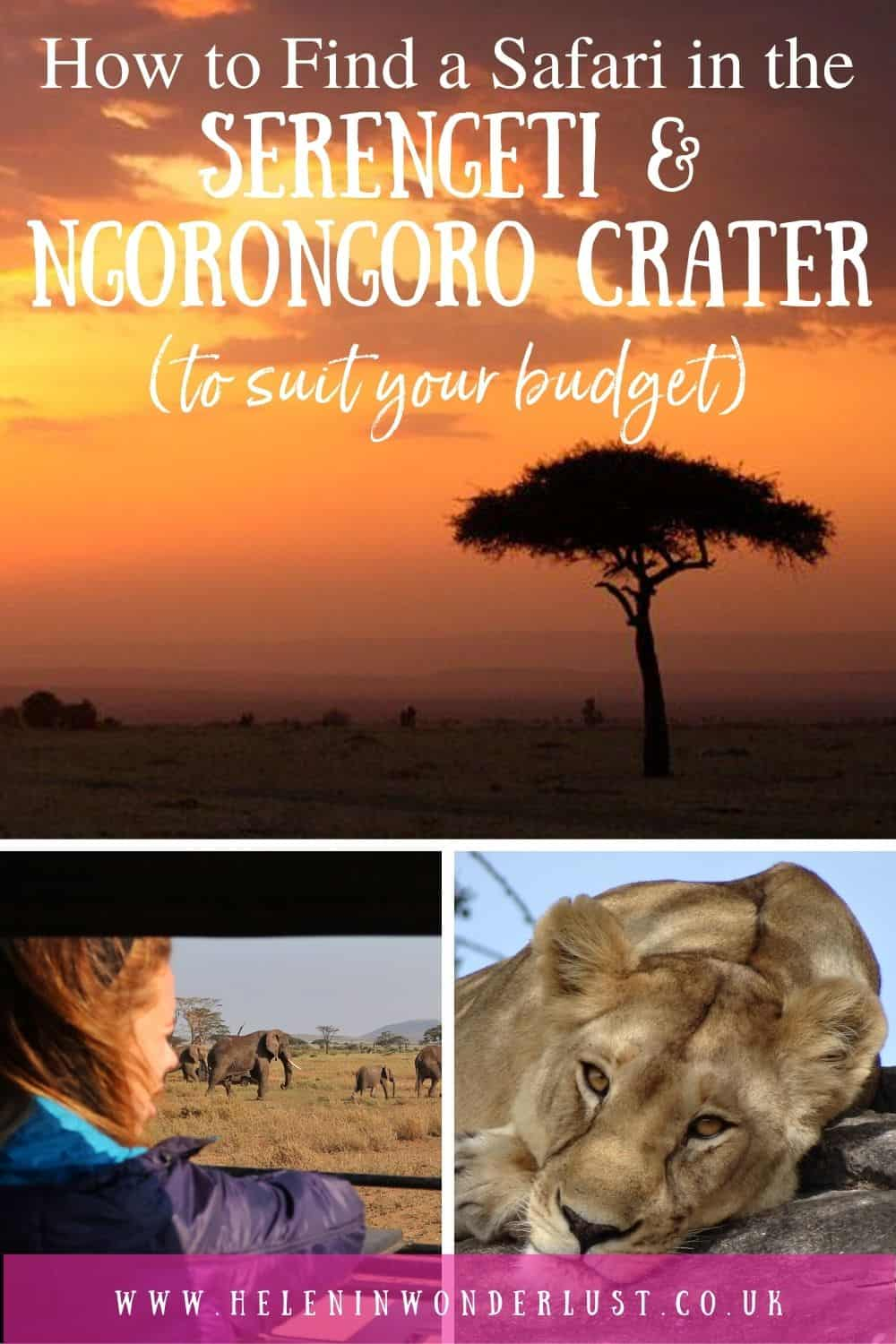How to find, plan and book the Serengeti & Ngorongoro Crater safari that's right for you, including when to go, where to stay, duration & who to go with!