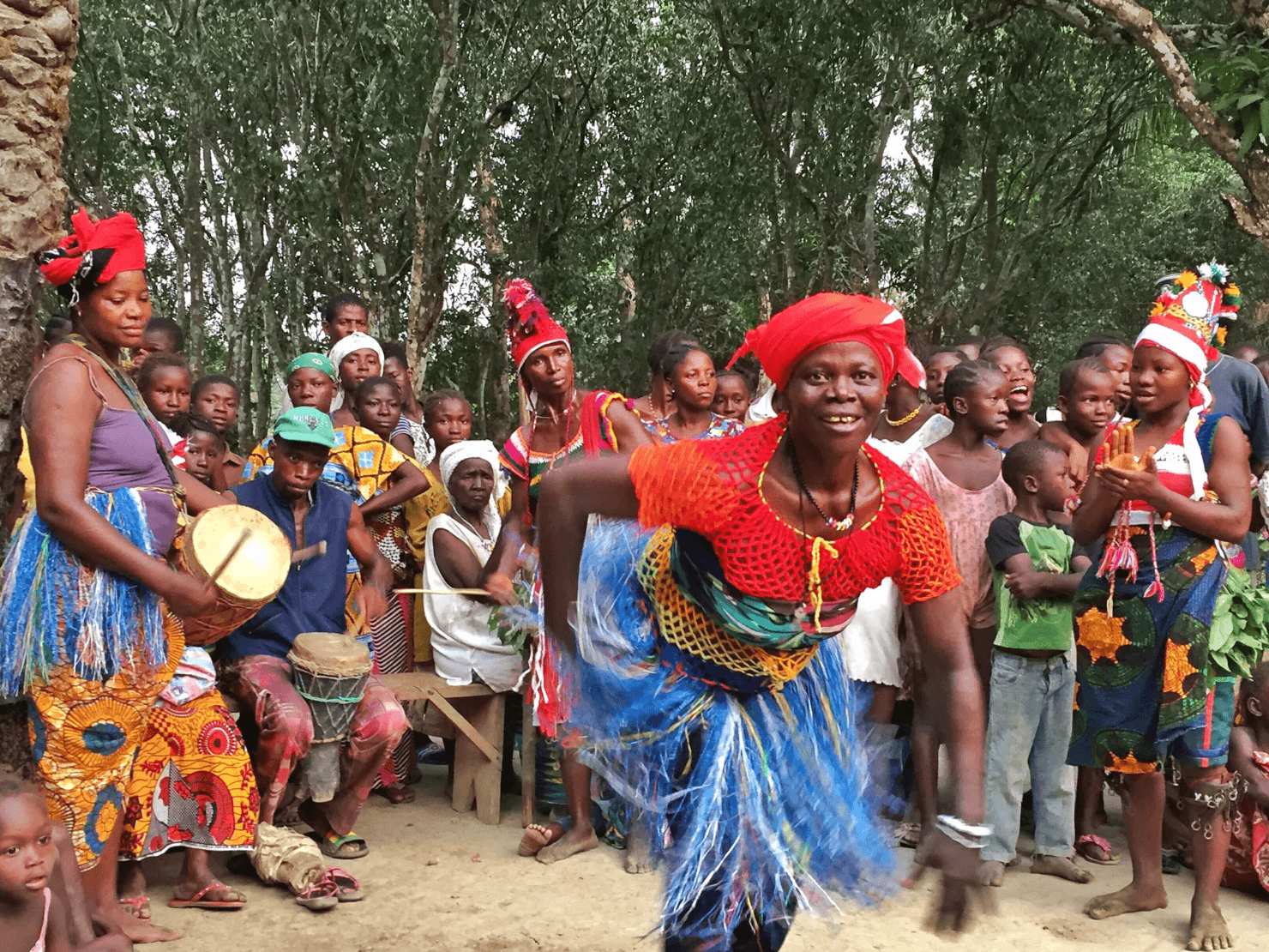 Tribal dancing, Sierra Leone