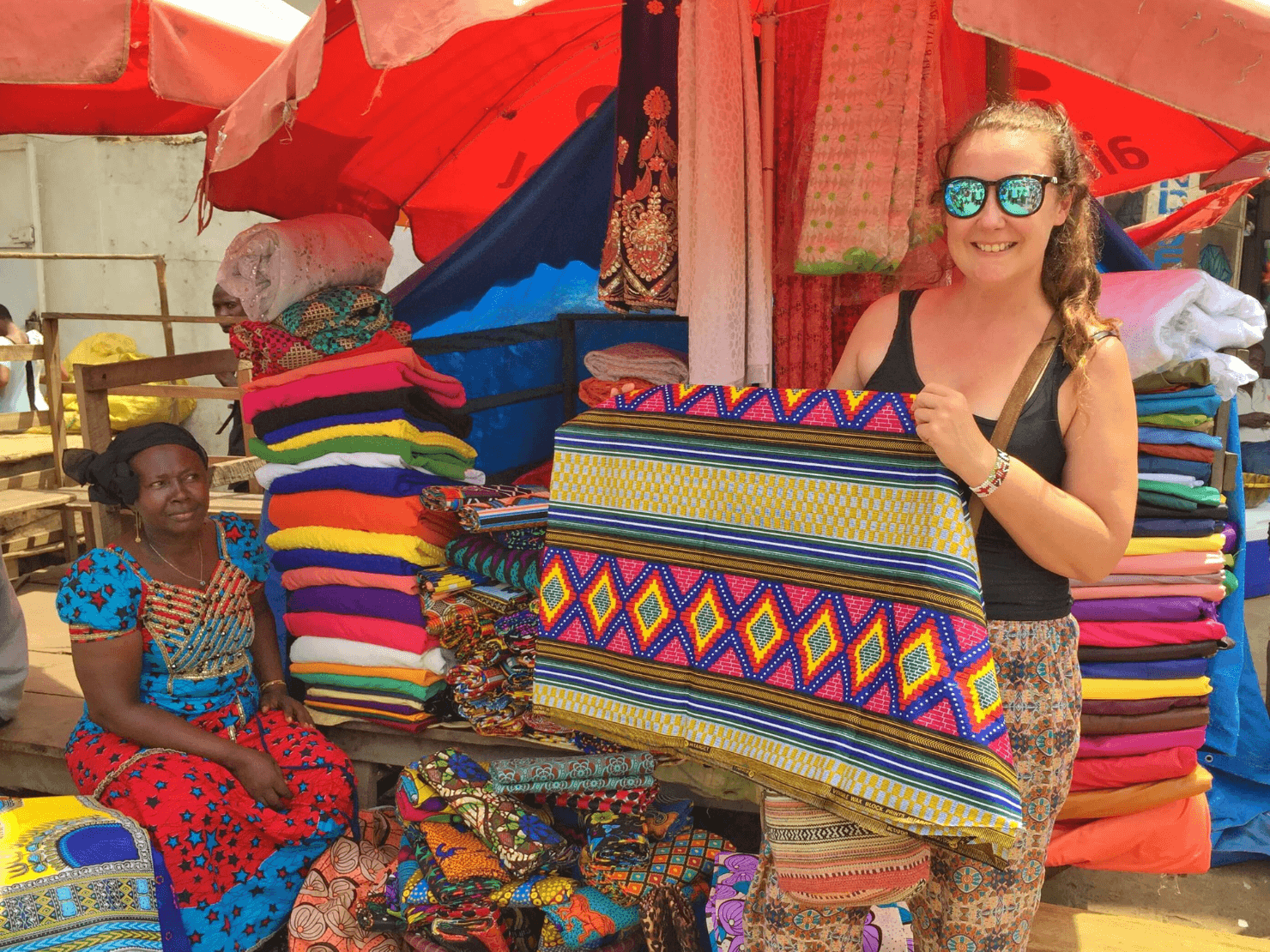 Lappa fabric shopping in Sierra Leone