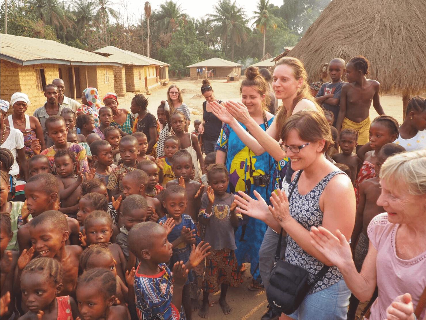 A Sierra Leone welcome.