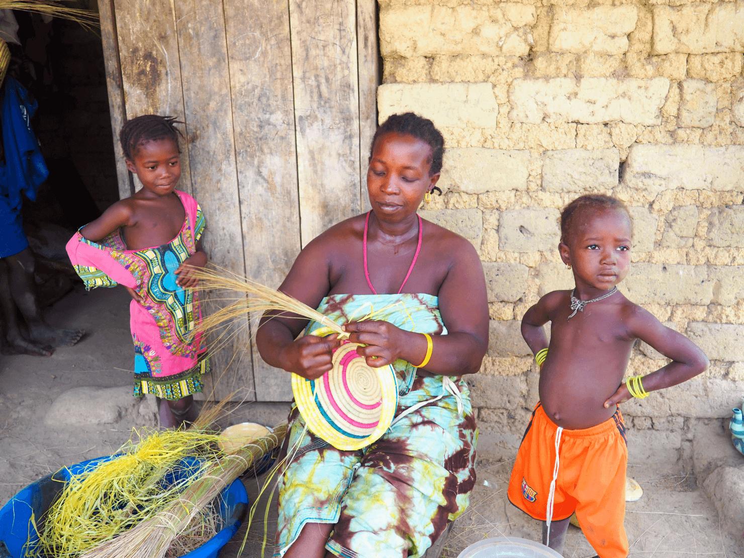 Basket weaving, Sierra Leone