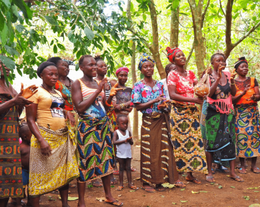 Tribal dancing in Sierra Leone.