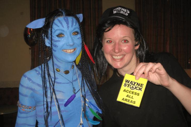 Avatar fancy dress costume.