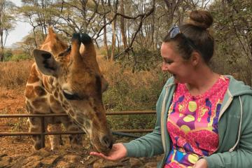 The Nairobi Giraffe Centre - Helen in Wonderlust