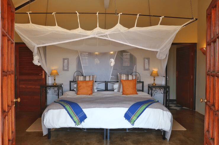 Rooms at the Stanley Safari Lodge in Livingstone, Zambia