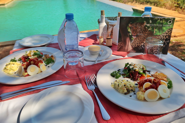 The Food at the Stanley Safari Lodge, Livingstone, Zambia