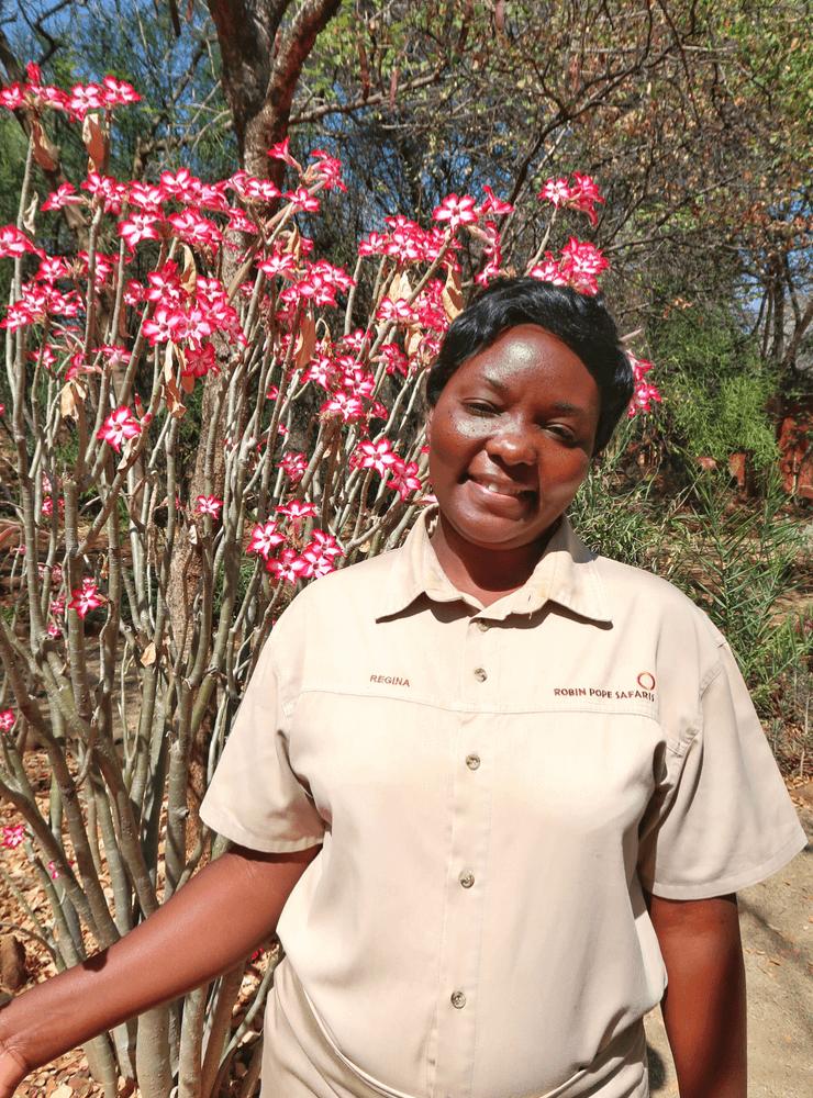 The Staff at the Stanley Safari Lodge, Livingstone, Zambia