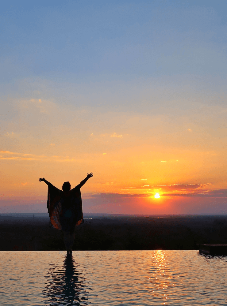The Sunsets at the Stanley Safari Lodge, Livingstone, Zambia