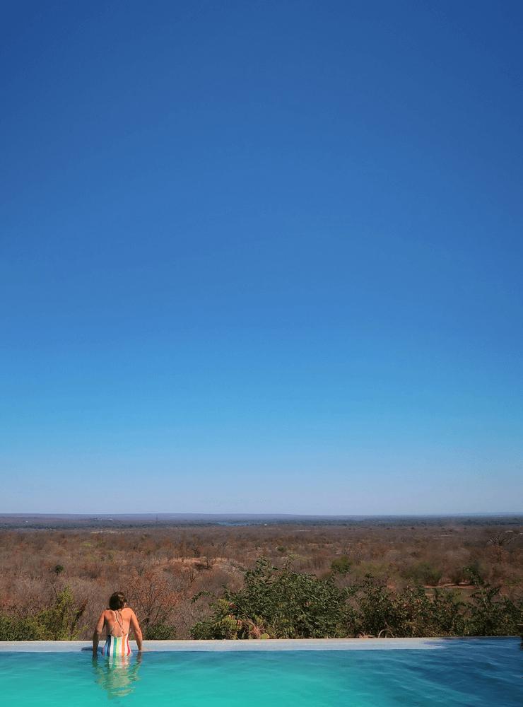 The Pool at the Stanley Safari Lodge, Livingstone, Zambia