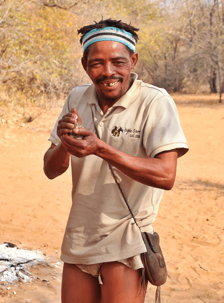 San People in Botswana - Rock My Adventure Tours