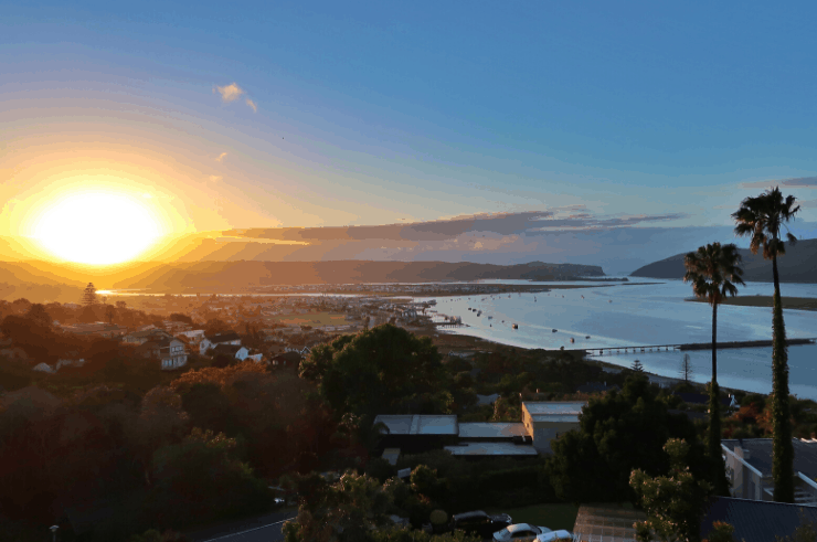 Sunrise over Knysna, Garden Route, South Africa