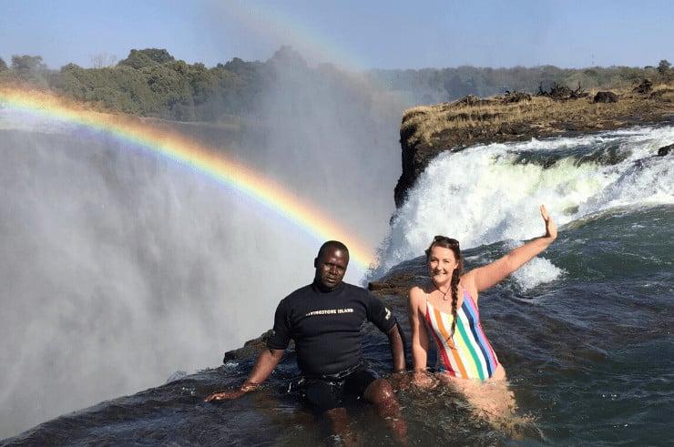 Devil's Pool in Zambia