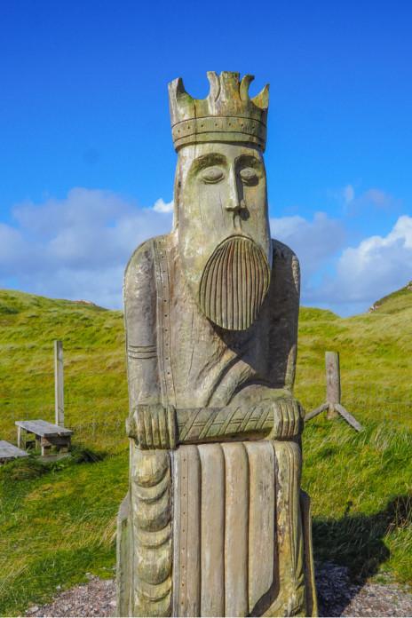 Uig Chessmen Outer Hebrides Map, Scotland