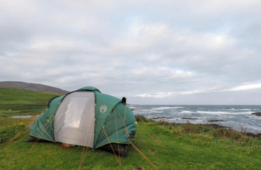 Camping in Barra, Scotland