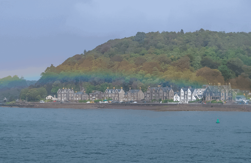 Rainbow Over Oban, Scotland