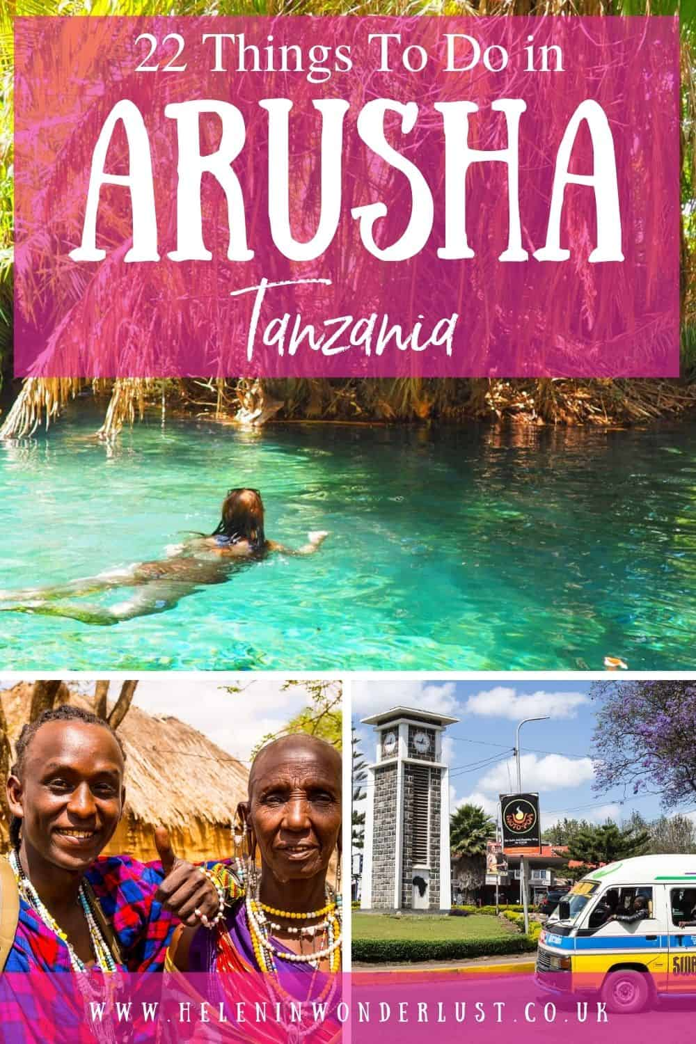 Looking for ideas on things to do in Arusha? Here are my favourite things to do in this great city in Northern Tanzania!