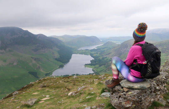 View from the top of Fleetwith Pike