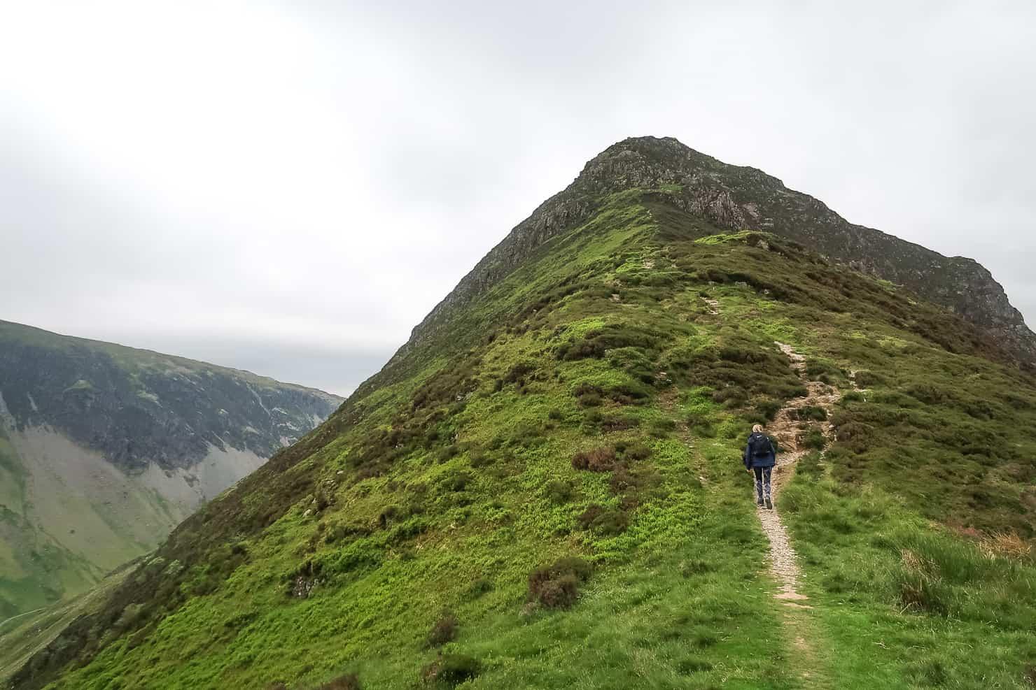 Hiking up Fleetwith Pike