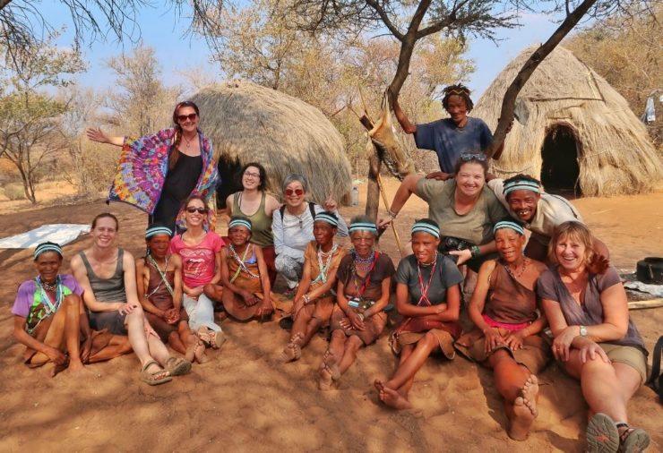 San People in Dkar - Botswana