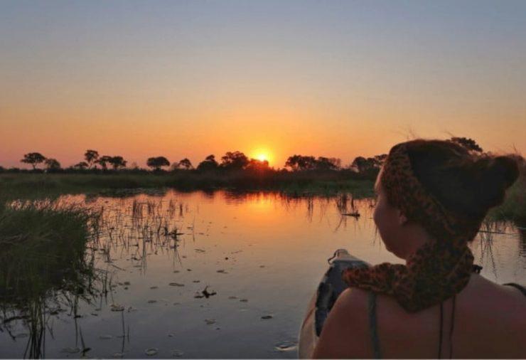 Sunset Mokoro Ride Okavango Delta - Botswana