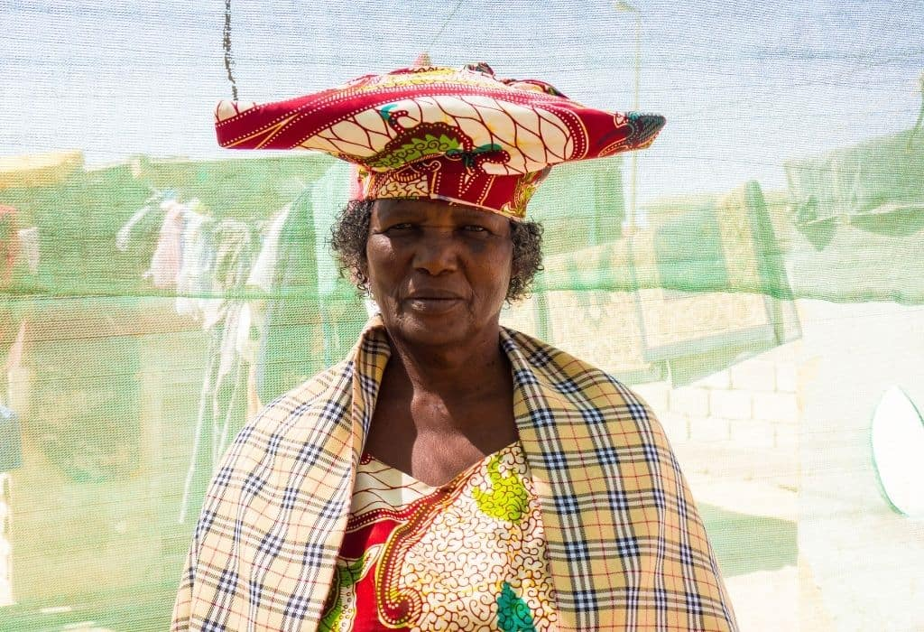 A Herero Lady in the Mondesa Township Namibia