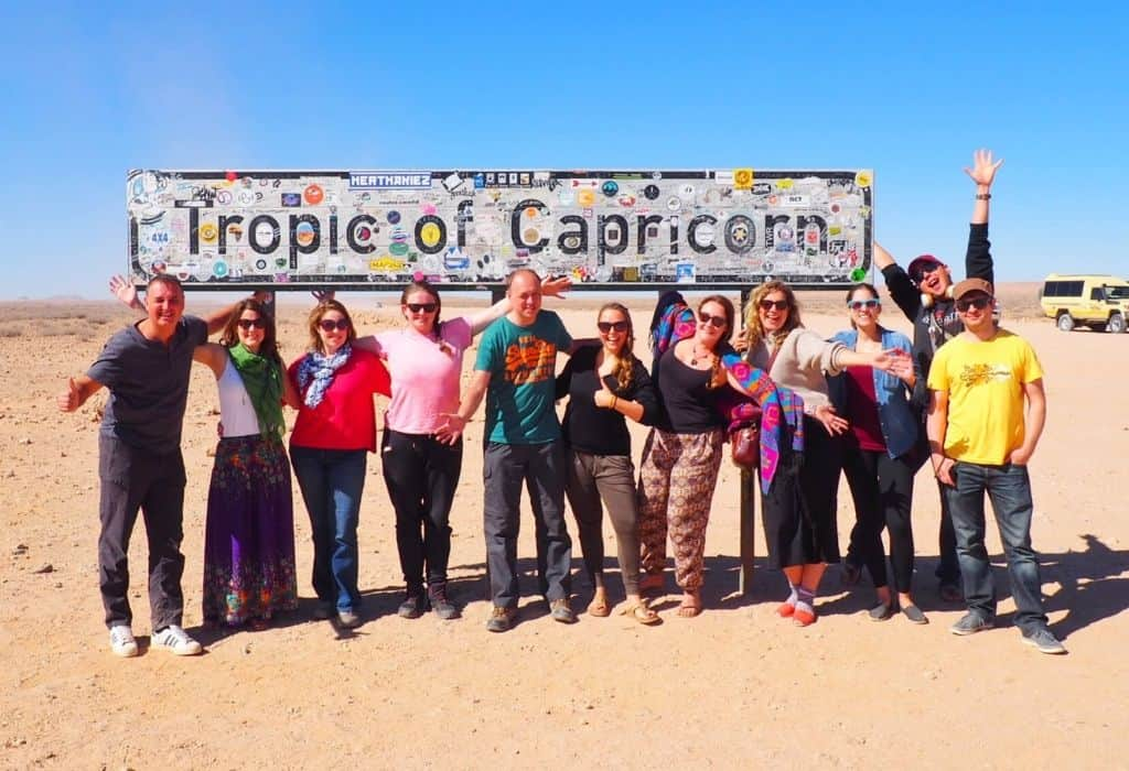 Group at the Tropic of Capricorn, Namibia