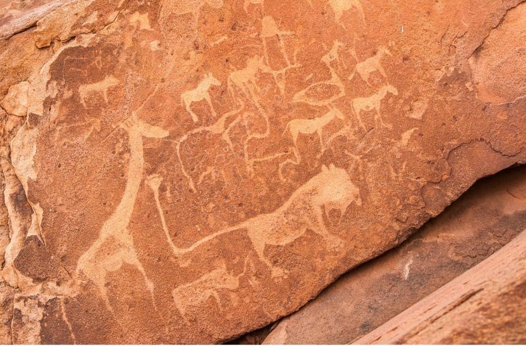 Twyfelfontein Rock Paintings in Namibia