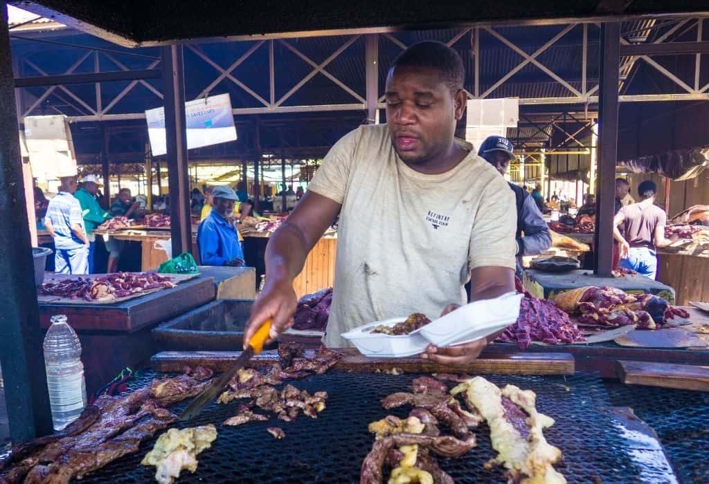 Street Food in Windhoek, Namibia