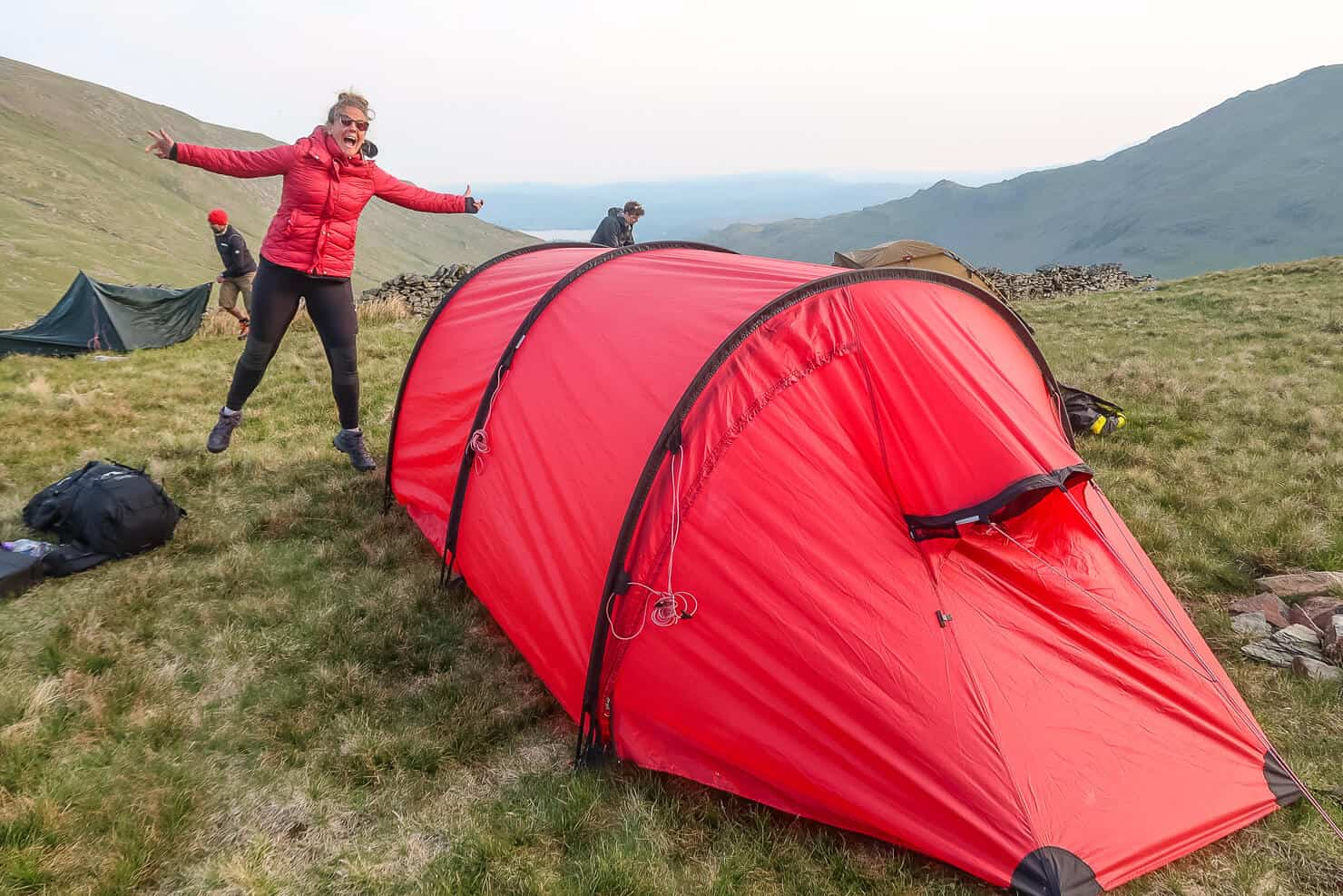 Camping in the Lake District.