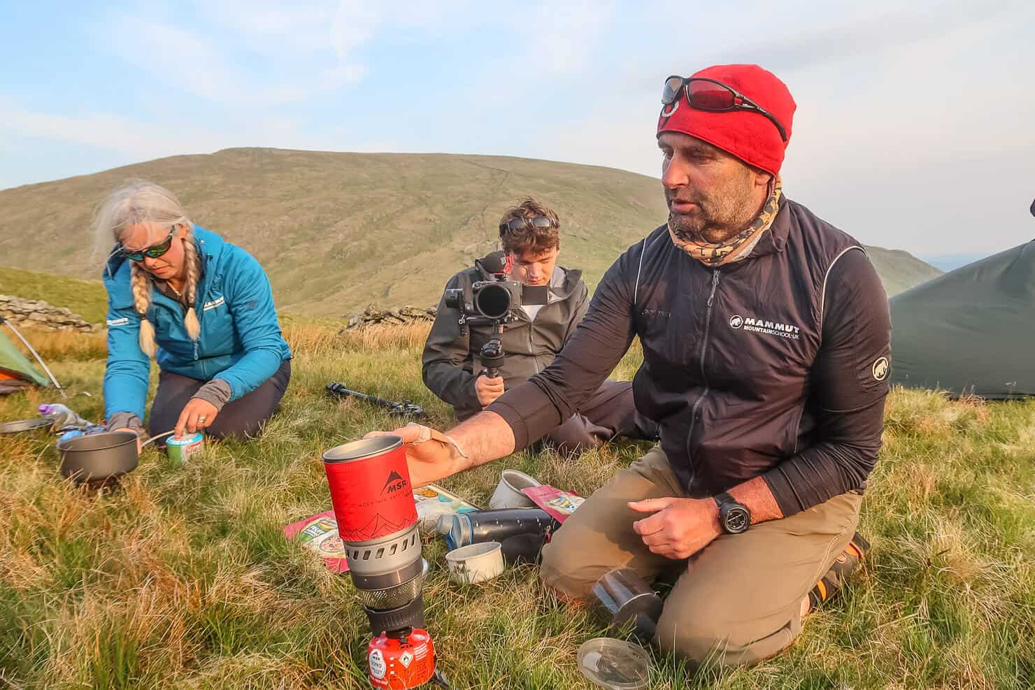 Learning to use a camping stove whilst wild camping in the UK.