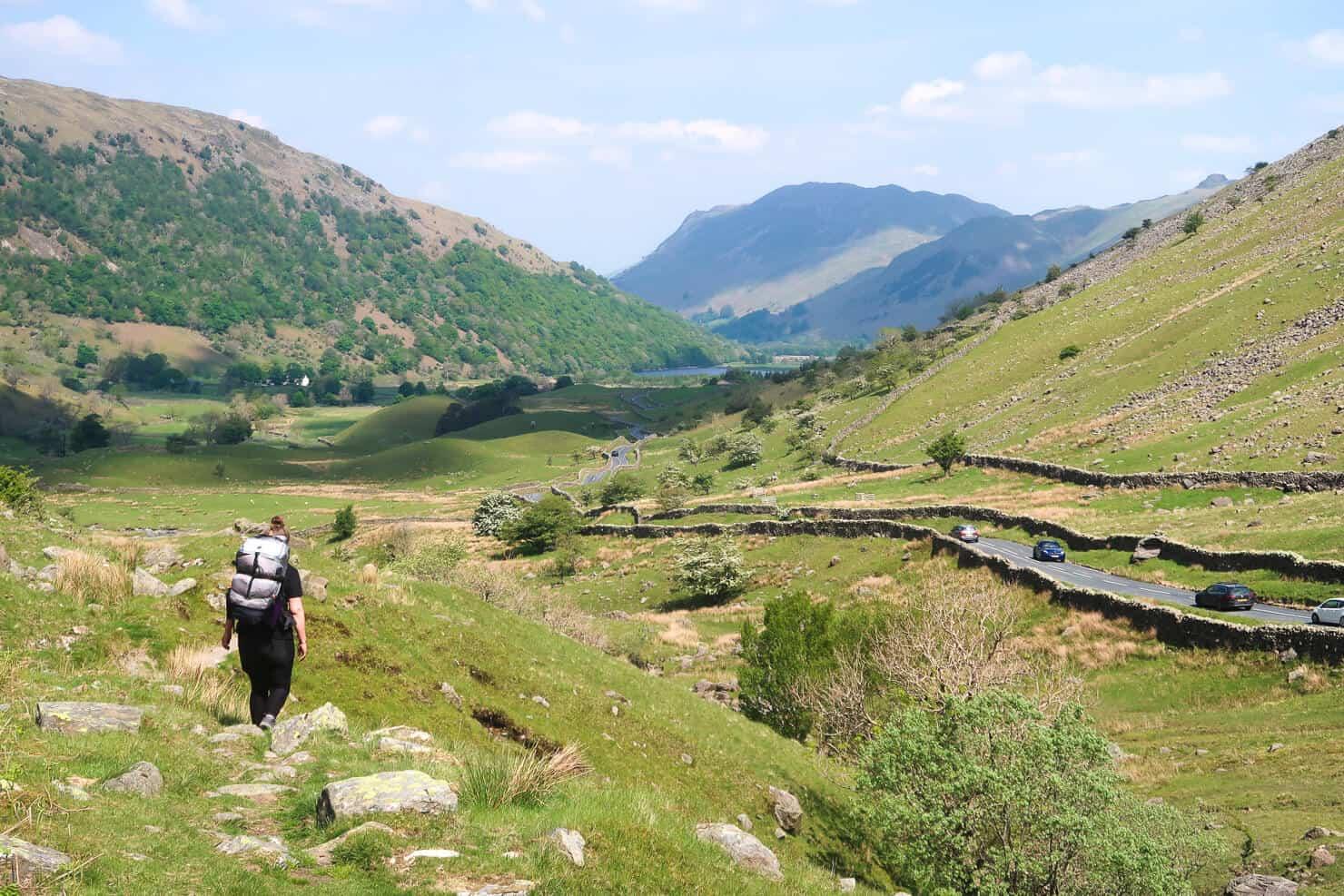 Hiking through the Lake District.